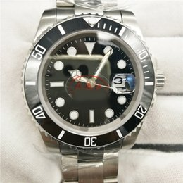 Wholesale Sub Watch Automatic - 8 colors Luxury Brand watch SUB 40mm ceramic bezel stainless steel ceramic Bezel 116610 automatic mechanical original clasp mens watch Rolix