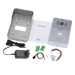 Wholesale Outdoor Intercom Camera - IP door bell video peephole PIR Motion Sensor IR Night vision Remote Unlock video intercom 1.0M pixels peephole camera doorbells
