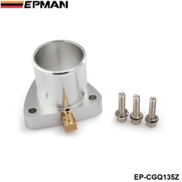 Wholesale T25 Flange - EPMAN 3 bolt Turbo outlet adapter For Garrett GT28R GT25R T25 GT28RS Compressor flange With Brass Fitting 90degree EP-CGQ135Z