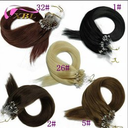 Wholesale micro ring remy hair extensions - Micro Ring Hair Extensions Brazilian Human Hair Grade 8A Factory Price Within Different Hair Color Straight