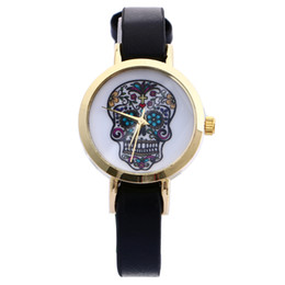 Wholesale Korean Ladies Glasses - Korean Style Small Womens Watches Leather Band Woman Quartz Casual Watch Analog Lady Watch Round Dial Dress Watch