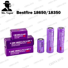 Wholesale Newest Mods - Newest Bestfire IMR 18650 3000mah 2600mah 18350 1100mah Vaporizer Battery Best fire Vape Batteries Fit Kanger Dripbox Toptank Mini Mods
