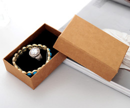 Wholesale Earings Bracelets - Wholesale 20pcs lot 8.5*6.5*3.2cm Jewelry Boxes packing and Packaging Kraft Carton for Rings Earings Bracelet free shipping