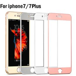 Wholesale Iphone Titanium Cover - 3D Full Cover Tempered Glass For iPhone 7 Plus 6 6S Clear Curve Titanium Alloy Alluminum Explosion Anti Shatter Film Protector