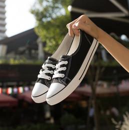 Wholesale Womens Flat Shoe Wholesalers - Womens Lace up Shallow Mouth Platform Shoes Casual Flats Student Canvas Shoes Lace-Up Flats Casual Shoes 6 color KKA2445