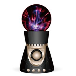 Wholesale disco speakers - Wholesale- Bluetooth Wireless Speaker Magic Plasma Ball Light Flash Disco Lamp Loudspeaker Sound Box Support TF Card FM Radio USB Disk