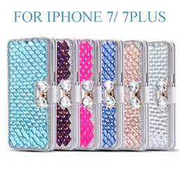 Wholesale Iphone5 Diamond Case - for iphone 7 plus Luxury Diamond Cell Phone Case Cover Stand flip colors cover case for Iphone5 6 6plus DHL Free SCA078