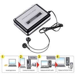 Wholesale Usb Audio Capture Cassette - Super Portable Tape to iPod MP3 CD USB Cassette Capture Converter Audio Music Player E0Xc BS1V Adapter With Retail Box