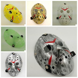 Wholesale Jason Voorhees Face - Halloween Cosplay Costume Porous Mask Jason Voorhees Friday The 13th Horror Movie Hockey Full Face Mask Party Mask CCA7166 150pcs