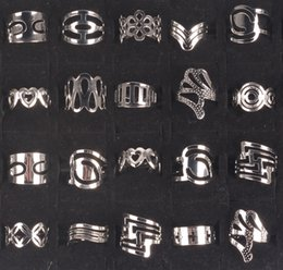 Wholesale China Wholesale Shipping Supplies - OverSize Irregular shape Styles rings Adjustable rings Fashion Mix Lots Unisex Silver Plated rings Hot Supplies Jewelry free shipping