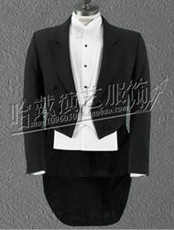 Wholesale dance costume tuxedo - Men's new personality nightclub singer costumes stage performance clothing presided over the wedding emcee black tuxedo S - 5 xl