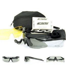 Wholesale Ice Sunglasses - ESS ICE 2.4 Safety Glasses Tactical Army Goggles TR90 Frame For Outdoor Hunting Wargame Cycling SunGlasses Bike Eyewea
