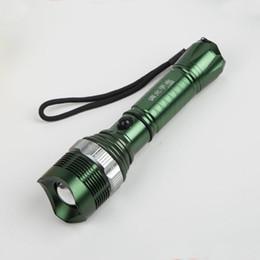 Wholesale Led Aluminium Alloy - New aluminium alloy LED Flashlight Torch 3 Modes zoomable Adjustable Focus Lantern Portable Light use 1*18650 or 3*AAA battery
