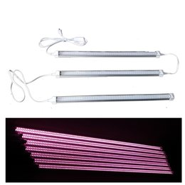 Wholesale Red Spectrum Lighting - 380-800nm Full Spectrum LED Grow Light LED Grow Tube 8Ft T8 V-Shaped Integration Tube for Medical Plants and Bloom Fruit Pink Color