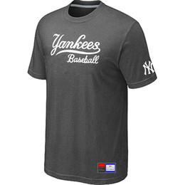 Wholesale Men Baseball Tee S - Hot New York Yankees Baseball Short Sleeves T Shirts Big&Tall Logo Casual Baseball Tees Shirt O-Neck T-shirt