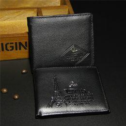 Wholesale Cheap Bifold Wallets - Men Wallets Purse Cheap PU Leather Bifold mens Wallet Retro design Short Purses Money Bag Gift 2016 hot sale wholesale