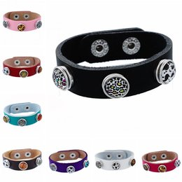 Wholesale Child Bangles - Noosa kids children mini noosa chunks snap button genuine leather bangles bracelets ginger snaps interchangeable DIY Jewelry