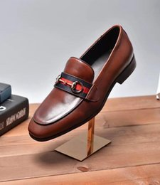 Wholesale Prom Shoes Brown - Brand Handmade Men Genuine leather driving Shoes Lace-Up Wear Comfortable Men Dress Wedding Shoes Prom Men's Loafers