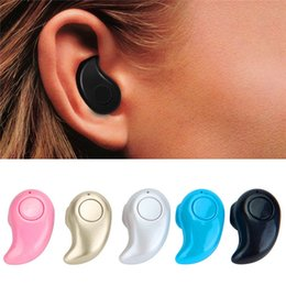 Wholesale Invisible Ear Wireless Earphones - Wireless Bluetooth Headphones S530 Invisible Mini Earphones Stereo Light Super Bass Music Answer Call Handsfree For Samsung iPhone RIO