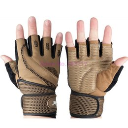Wholesale Gym Body Building Equipment - Wholesale-Gym Body Building Fitness Gloves Sports Equipment Training Weightlifting Gloves Workout Exercise Breathable Fitness Gloves S193