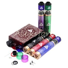 Wholesale Sleeves Copper - Limitless Kit Come with Limitless Mechanical 18650 Mod Clone Limitless RDTA RDA Copper Material Sleeve Colorful 510 Thread Mods DHL free