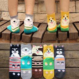 Toptan Moda Güzel Sevimli Harajuku 3D Hayvanlar Unisex Bay Bayan Çorap Pet Köpekler Schnauzer Collie Yenilik Pamuk Karikatür Baskılı nereden