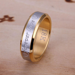 Wholesale Ring Forever Love Gold - wholesale hot high 18k Rose forever love ring Man,new Women fine 925 sterling silver charm crystal jewelry 1 ring fashion jewelry CR095