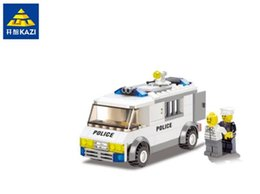 Wholesale Police Toy Car - Kazi 135pcs DIY eductional plastic Bricks Building Blocks Police escort car compatible with legoe city Enlighten children toys