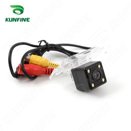 Wholesale Volvo Tracks - CCD Track Car Rear View Camera For Volvo S80L S40L S80 S40 Parking Assistance Camera Track Line Night Vision LED Light Waterproof KF-V1268L