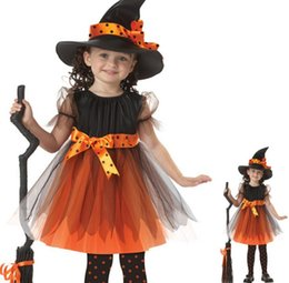 2016 Girl Witch Dress + Hat Cap Princess Party Dresses Tutu Baby Kids Children Clothing Carnival Halloween Cosplay Costume  sc 1 st  DHgate.com & Shop Carnival Costumes Children S UK | Carnival Costumes Children S ...