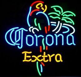 Wholesale Corona Beer Signs - Neon Light Sign. LED sign Corona birld LIGHT Neon Beer Sign Bar Sign Real Glass Neon Light Beer Sign 43cm*35cm
