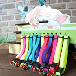 Wholesale Candy Dog Collar - New Style adjustable Pet Dog Cat Collar breakaway safety buckle cat nylon solid candy color collar puppy collar