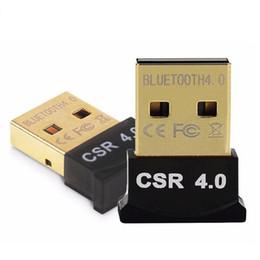 Wholesale Bluetooth Adaptors - Wireless Mini USB Bluetooth Adapter V4.0 Bluetooth Dongle CSR4.0 Music Sound Receiver Adaptor Bluetooth Transmitter For Computer PC Laptop