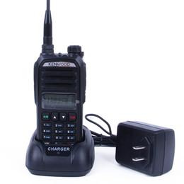 Kenwood de dos vías online-para kenwood TH-F9 walkie talkie UV radio bidireccional radio dual walkie talkies de la policía Con envío gratuito