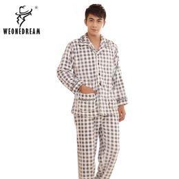 Wholesale Thickening Plaid Shirt - Wholesale-Winter Sleepwear Male Coral Fleece Sleepwear Male Thickening Flannel Sleep Set Plus Size Lounge Male Set