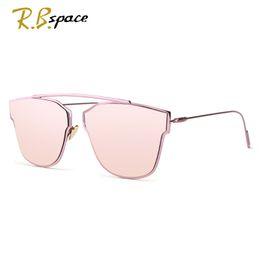 Wholesale Cool Decks - Wholesale-RBspace New Women 5 Colour Luxury Cat Eye Sunglasses Women Sunglasses Double-Deck Alloy Frame UV400 cool Glasses woman oculos
