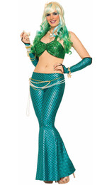 Wholesale Mermaid Adult Halloween Costume - HOT new Cosplay Ladies Mermaid Costume Adult Sexy Halloween Party Fancy Dress VLS6889 size M,L