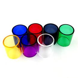 Wholesale Color Glass Tube - TFV12 TFV8 Big BABY TFV8 BABY TFV4 Mini Glass Tube Color Replacement Colorful Replacable Caps Tube for SMOK SMOKtech Tank Atomizers RBA DHL