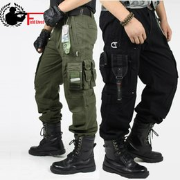 Wholesale Military Camouflage Cargo - Men's Cargo Pants Millitary Clothing Combat Swat Tactical Pants Military Knee Pads Male Outdoor Camouflage Army Style Camo Workwear Trousers