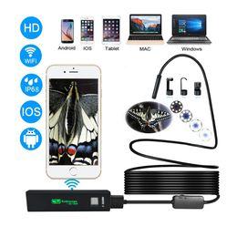 ascensore aria auto Sconti Nuovo 8LED 5M flessibile Snake USB Android IOS Endoscopio senza fili Camera 1200P HD 8mm IP68 Impermeabile fotocamera di ispezione