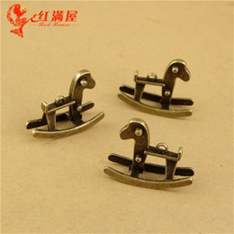 Wholesale Horse Rocking Charms - A2146 26*20*9MM Antique Bronze Retro rocking horse charm pendant beads, DIY handmade jewelry accessories wholesale old ancient charms