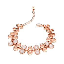 Wholesale Bracelets Ideas - 2017 Trendy decoration Innovative idea Opal Rose Bold Bracelet Hotting sale Jewelry chain Christmas gift on wholesale