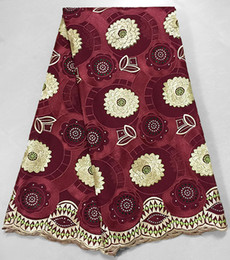 Wholesale African Voile Lace Dresses - Top grade 5 yards African Swiss voile lace Big cotton 100% high quality for important family event Nigeria gardon dress