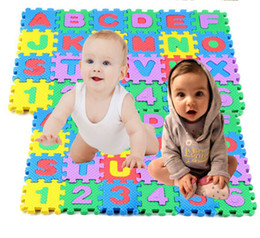 Wholesale Eva Alphabet Puzzle Mats - Wholesale-New 36pcs set Mini Puzzle Kid Educational Toy Alphabet Letters Numeral Foam Mat