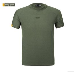 Wholesale Collar Rounded Low - hot sellhigh quality and good price SOLDIER outdoor 100% Coolmax low-key tactical shirt round collar quick-drying short-sleeved mens t-shirt