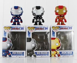 Wholesale Iron Man Funko - Hot sale FUNKO POP Avengers Iron Man PVC Action Figure Collection Toy Doll 9.5cm 3 style you can choose Free Shipping EMS