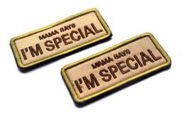 VP-74 Patch militari ricamati MAMA SAYS I'M SPECIAL Tattico 3D Patch Distintivo di Combattimento Bracciali in tessuto con stemma cucire sulla toppa da