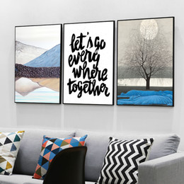 Wholesale Modern Art Mirrors - Three paintings of modern Nordic family decorative painting wall art painting poster size 40cmx50cm free shipping