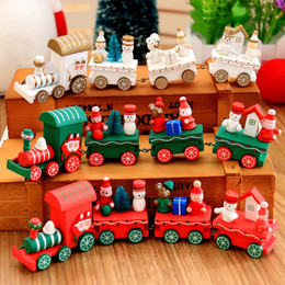 Wholesale Toys Train Sets - 2017 New design Kids Toys Wooden Train Cars Cartoon Collection Trains Friends Model Best Baby Christmas Gifts