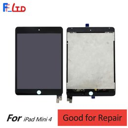 Wholesale Ipad Mini Oem - OEM AAA+++ for iPad Mini 4 LCD Display Digitizer with Flex Cable Assembly Replace Parts 2 Years Warranty Fast DHL Shipping